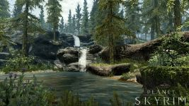 Szene mit Wasserfall